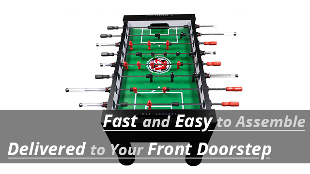 Safest Foosball Table with 15minute Assembly