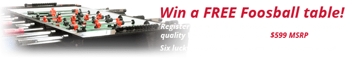 Warrior Table Sweepstakes