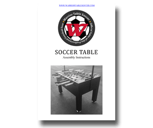 Assembly Instructions For Warrior Foosball Tables