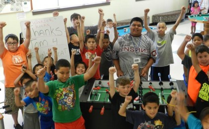 Warrior Foosball Table – Perfect for youth programs.