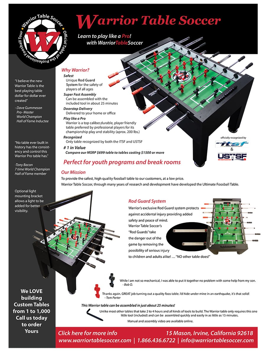Foosball Table Brochure