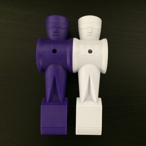 Full Set of Purple and White Fluorescent Men fits on 5/8th Rod