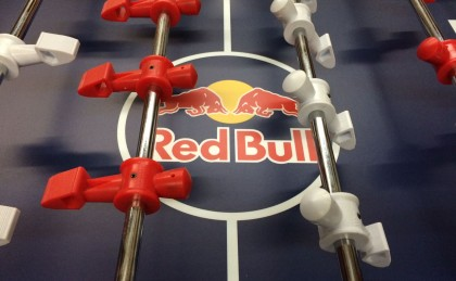 Red Bull Custom Foosball Table made by Warrior Table Soccer