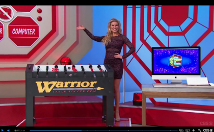 Warrior Professional Foosball Table Presented on The Price is Right