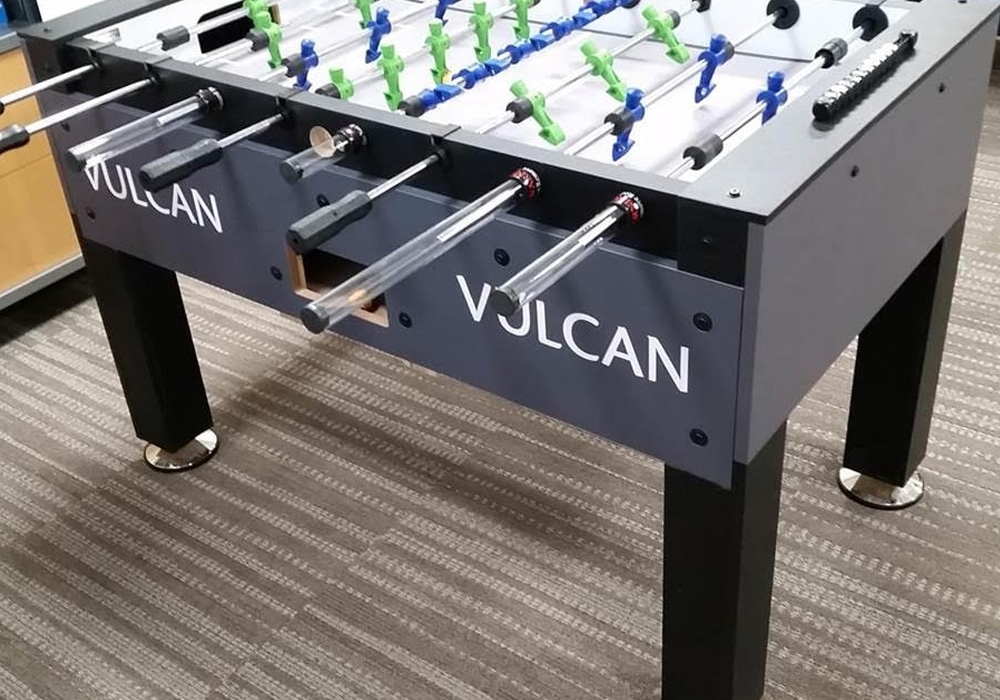 Vulcan Custom Foosball Table left side view