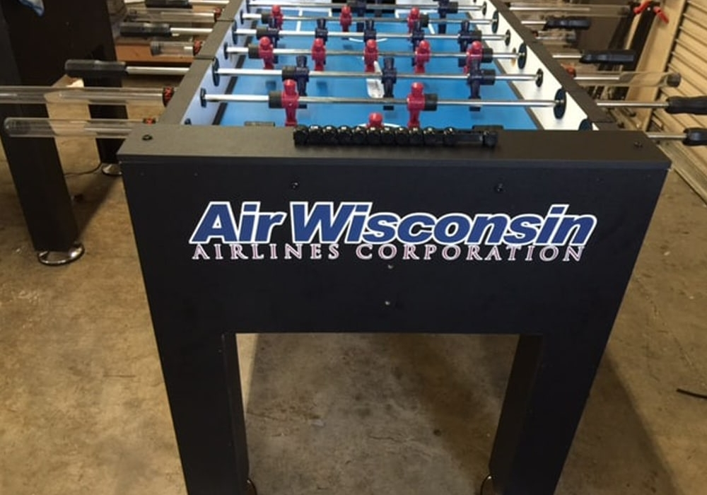 Air Wisconsin Airlines Custom Foosball Table end view