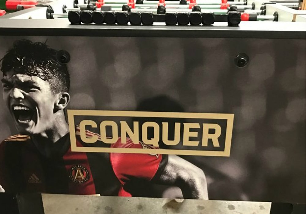Atlanta United FC Custom Foosball Table side view