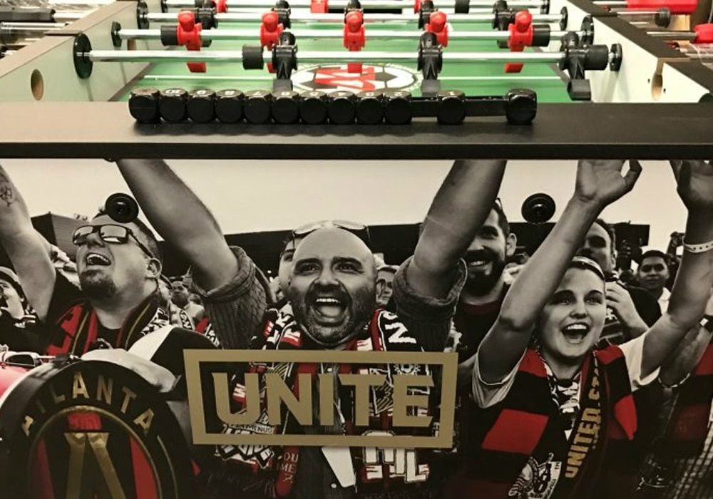 Atlanta United FC Custom Foosball Table end view