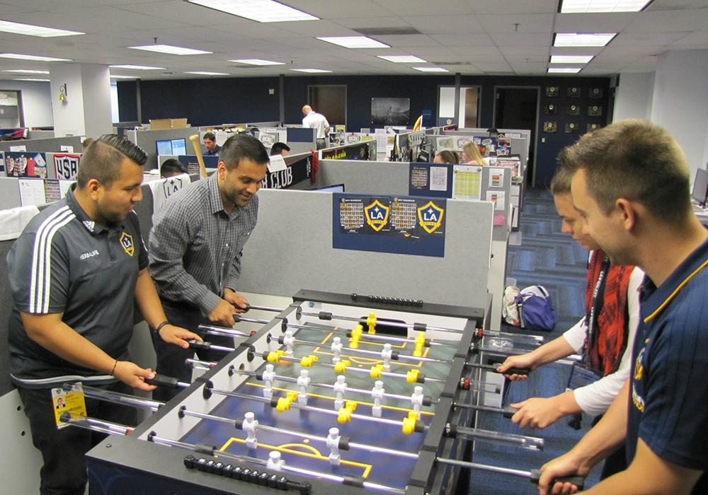 Corporate Office Foosball Table for LA Galaxy