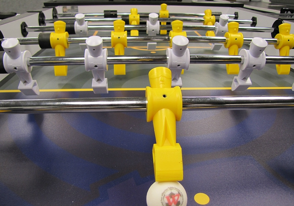 LA Galaxy Custom Foosball Table Top Surface View