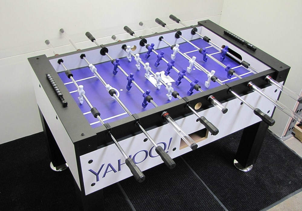 Company incentive foosball table for Yahoo!
