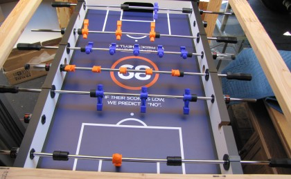 Automotive Mastermind Custom Foosball Table