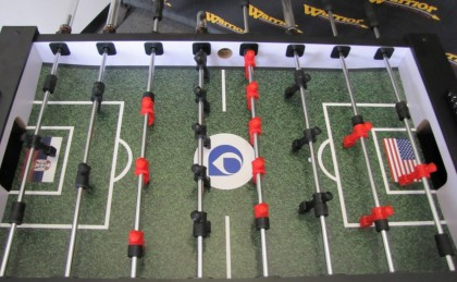 Telesign Custom Foosball Table made by Warrior Table Soccer