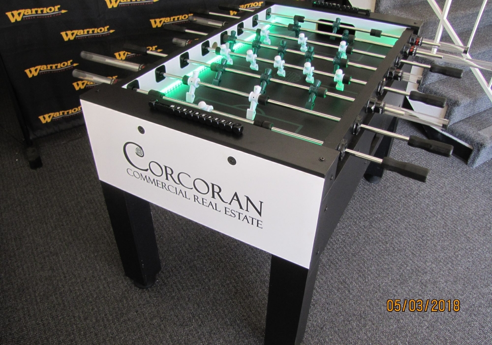 LED enhanced foosball table customized for Corcoran