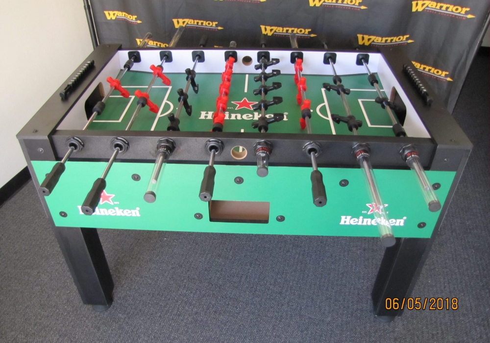 Heineken Custom Foosball Table Top Side View