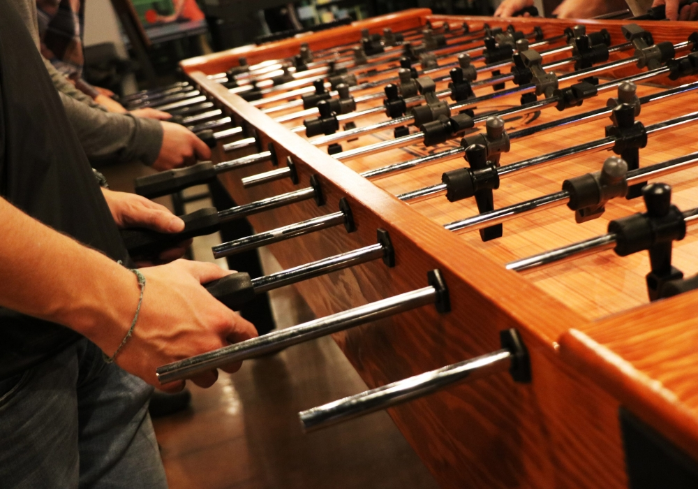 Pin Deck Custom Foosball Table close shot