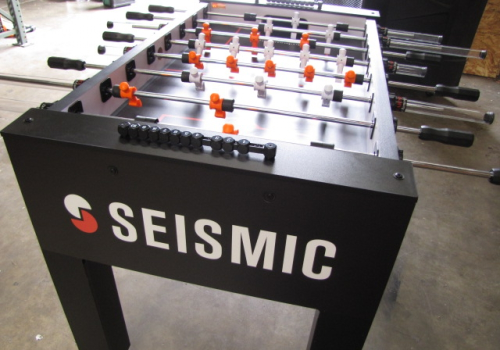 Seismic Custom Foosball Table Angle View