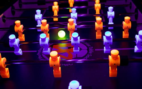 Black Light Foosball Table